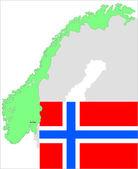Denmark map and flag, vector illustration set. — Stock Vector