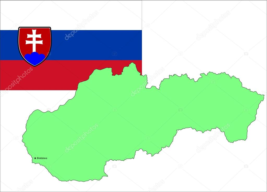 Slovakia map and flag, vector illustration — Stock Vector #13170897