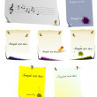 Stock Vector: Set of note pages