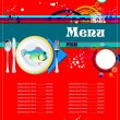 Fish Restaurant (cafe) menu - Stock Vector