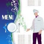 Restaurant (cafe) menu. Colored vector illustration for designer — Stock Vector #28263363