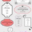 Set of ornate vector frames and ornaments with sample text. Perf — Stok Vektör