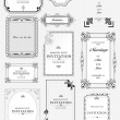 Set of ornate vector frames and ornaments with sample text. Perf — Vector de stock #28263909