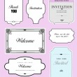 Set of ornate vector frames and ornaments with sample text. Perf — Vector de stock #28263945