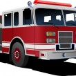Fire engine ladder isolated on background. Vector illustration — Stock Vector