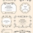 Collection of ornate vector frames and ornaments with sample tex — Stock Vector