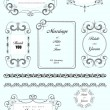 Collection  of ornate vector frames and ornaments with sample te — Stock Vector