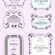 Collection of vector frames and ornaments with sample text.  — Stock Vector