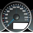 Stock Vector: Speedometer. Accelerating Dashboard. Vector illustrator