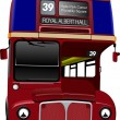 London double Decker red bus. Vector illustration — Stock Vector #34201705