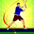 Man tennis player. Colored Vector illustration for designers — Stock Vector #34202145