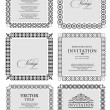 Collection of ornate vintage vector frames with sample text. Per — Stock Vector