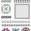 Collection of Ornamental Rule Lines in Different Design styles — Stock Vector