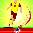 Soccer player poster. Football player. Vector illustration — Stock Vector #34205933
