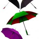 Set of Opened umbrellas. Vector illustration — Stock Vector #34206149