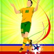 Soccer player poster. Football player. Vector illustration — Stock Vector