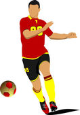 Soccer player. Football player. Vector illustration — Vector de stock