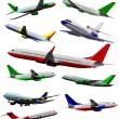 Big collection of airplane on the air. Vector illustration — Stock Vector #34243699