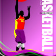 Basketball player poster. Vector illustration — Stock Vector