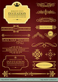 Big collection of calligraphic design elements and page decorati — Stock Vector