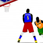 Basketball players. Vector illustration — Stock Vector