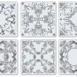 Stock Vector: Decorative finishing ceramic tiles