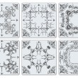 Decorative finishing ceramic tiles — ストックベクター #34286929