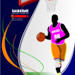 Stock Vector: Basketball players. Vector illustration