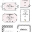 Set of ornate vector frames and ornaments with sample text. Perf — Vettoriali Stock