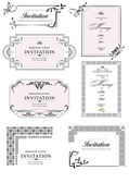 Set of ornate vector frames and ornaments with sample text. Perf — Stock Vector