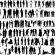 People silhouettes — Vector de stock #34949803
