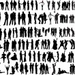 People silhouettes — Stock vektor