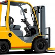 Stock Vector: Lift truck. Forklift.