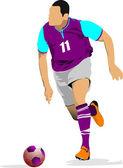 Giocatori di calcio. — Vettoriale Stock