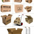 Carton packaging boxes. — Stock Vector