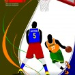 Basketball poster. — Stock Vector #34950335