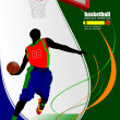 Stock Vector: Basketball poster.