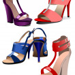 Fashion woman shoes — 图库矢量图片