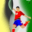 Stock Vector: Soccer player poster. Football player.