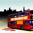 City bus on abstract background. — 图库矢量图片