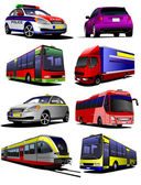 Set of municipal transport images. — Stock Vector