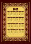 Calendario 2014. — Vector de stock