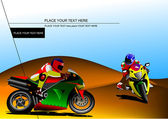 Motorcycling background with motorcycle — ストックベクタ
