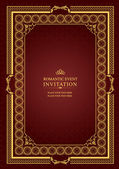 Cover for brochure with gold ornament — Vetorial Stock