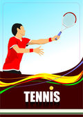 Tennis player poster. — Stock Vector