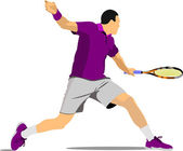 Tennis player. — Stock Vector
