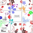Decorative finishing ceramic tiles. — Vettoriali Stock