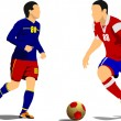 Soccer player. Vector illustration — Stock Vector
