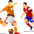 Soccer player. Vector illustration — Stock Vector #34980989
