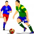 Soccer player. Vector illustration — Stock Vector #34981011